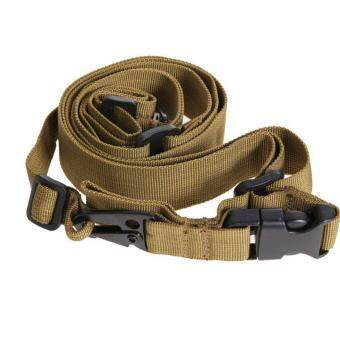 Harga 1pc 3 Point Rifle Sling Adjustable Durable Tactical Bungee Sling Swivels Airsoft Hunting Gun Strap - intl