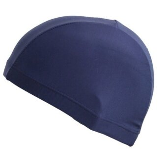 Harga Unisex Flexible Sporty Latex Swimming Cap - intl