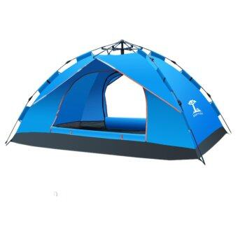 Harga 1-2 Persons Waterproof Dome Automatic Instant Tent Beach Tent For Festival,Camping, Hiking Blue - intl
