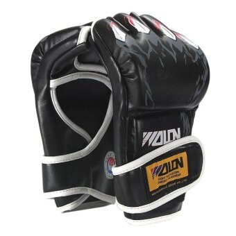 Harga Thickening of the Gloves Half Playing Sandbags Professional Sanda Gloves Fight Knuckles MMA UFC - intl