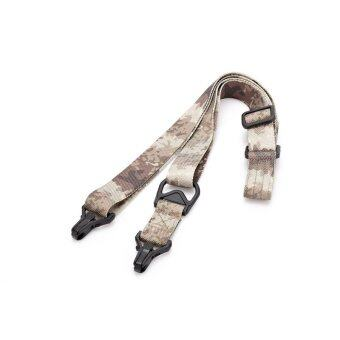 Harga Tactical Single Point Sling Ajustable Bungee Rifle Sling Hunting Gun Belt Sling Strap ATACS-AU - intl