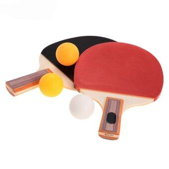 Harga Pair Table Tennis Ping Pong Racket Paddle Bat with 3 Balls Outdoor Sports