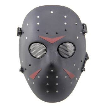 Harga Outdoor CS Games Activity Jason Mask Safeguard Ventilate Face Mask Face Guard (Black)