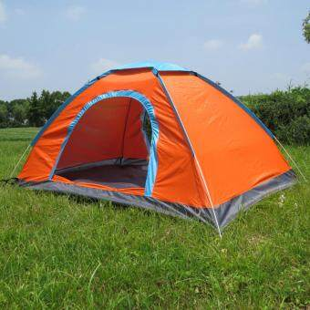 Harga Portable outdoor automatic tent 3-4 people camping tent เต็นท์นอนแค้มปิ้ง Orange