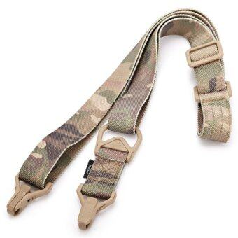 Harga Tactical Single Point Sling Ajustable Bungee Rifle Sling Hunting Gun Belt Sling Strap - intl