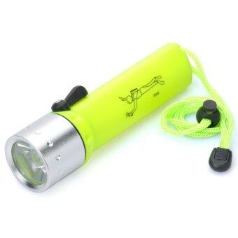 Harga IPX8 6500K 100LM IPX8 1-LED Diving Flashlight (4 x AA) - Intl