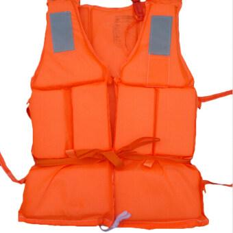 Jetting Buy เสื้อชูชีพโฟมว่ายน้ำท่วม+นกหวีดส้ม