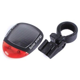 ซื้อ/ขาย JJ ไฟท้ายจักรยานพลังงานแสงอาทิตย์ Bike Solar Cell Light รุ่น NO.909 (Black)