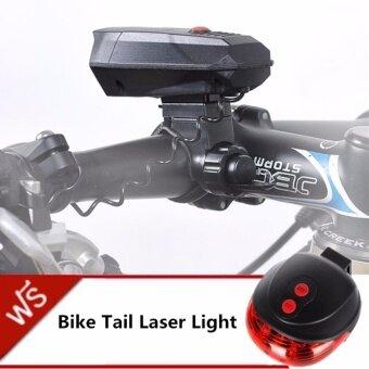 ประเทศไทย JJ กริ่งแตรจักรยาน CYCLE HORNS แถมฟรี ไฟเลเซอร์ท้ายรถจักรยาน Bike Light Tail Bicycle Laser รุ่น DW-681(Red)
