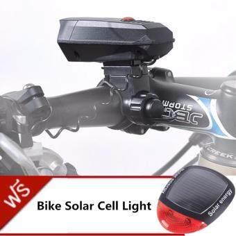 2561 JJ กริ่งแตรจักรยาน CYCLE HORNS แถมฟรี ไฟท้ายจักรยานพลังงานแสงอาทิตย์ Bike Solar Cell Light รุ่น NO.909 (Black)