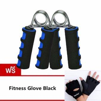 ประเทศไทย JJ อุปกรณ์บริหารมือและนิ้วมือ แฮนด์กริ๊ป x 2 แถมฟรี YUEYAN ถุงมือฟิตเนส ถุงมือออกกำลังกาย Fitness Glove Weight Lifting Gloves Black( Int:M)