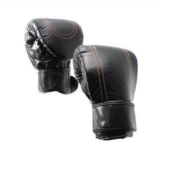 Kinglion Sport แบคชกสีดำ แบ็คชกมวย แบ็กชกกระสอบทรายนวมชกมวยนวมมวย นวมต่อยมวย นวมซ้อมมวยไทย BLACKPU Leather Muay ThaiKick Boxing Gloves