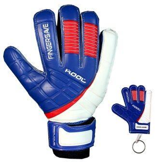 KOOL ถุงมือ โกล์ว ฟุตบอล อังกฤษ Football Goalkeeper Gloves RepliqueENG Fingersave พร้อมพวงกุญแจ