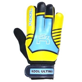 KOOL PRO ถุงมือโกล์ว ฟุตบอล Football Gloves keeper Ultima (Yellow)