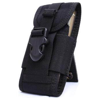 Leegoal 5.5 Inch Outdoor Nylon Utility Phone Belt Clip On Holster Holder Tactical Cell Phone Waist Pack Pouch - Black - intl