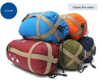 leegoalCompressible Outdoor Camping Sleeping Bag Envelope Sleeping Bag(Army Green) (image 1)