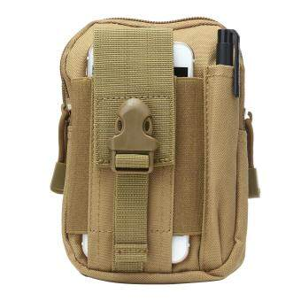leegoalMultifunction Tactical Molle Pouch EDC Utility Gadget Belt Waist Bag With Cell Phone Holster Holder For Running Hiking Sporting - Khaki