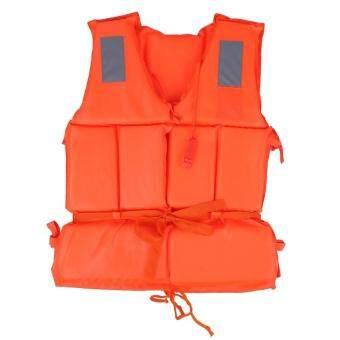 Life Vest Swimming Boating Fishing Drifting Ski Aid LifesavingJacket With Whistle Child (Orange) - intl