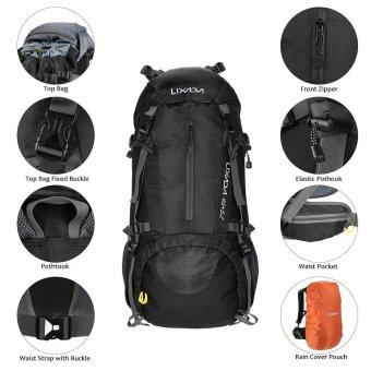 Lixada 50L Water Resistant Outdoor Sport Hiking Camping TravelBackpack Pack Mountaineering Climbing Backpacking Trekking BagKnapsack with Rain Cover - intl