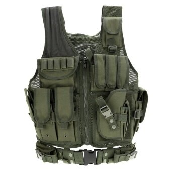 Lixada Outdoor Military Tactical Army Polyester Airsoft War Game Hunting Vest for Camping Hiking - intl