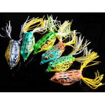 Lot 5 PCS Cute Frog Fishing Lure Hooks Bass Bait High Quality 5Colors - intl ...