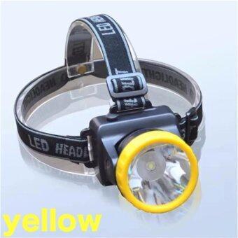 LOVEYOU ไฟฉายคาดศีรษะ หลอด LED ไฟสีขาว กำลังไฟ 80 W yellow/สีเหลือง 1 pcs
