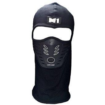 ประเทศไทย M1 หมวกรองกันน๊อคพร้อมหน้ากากซัพพอร์ทกรองฝุ่น รุ่น Airflow สีเทา