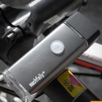 ไฟหน้าจักรยาน Machfally USB Aluminium Light 180 Lumens+ (สีบรอนซ์)