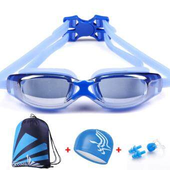 Men's Women's Anti-fog UV Protection Goggles ProfessionalElectroplating Waterproof Swimming Glasses - intl