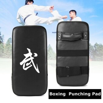 Harga Muay Thai Karate MMA Taekwondo Boxing Foot Target Focus KickPunching Shield Pad Black - intl
