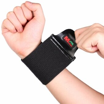 MUMIAN Black Sports Elastic Stretchy Wrist Joint Brace Support Wrap Band Adjustable Silicone pressure C03