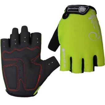 PAlight Breathable Anti-slip Anti-shock Cycling Gloves(Fluorescence XXL)