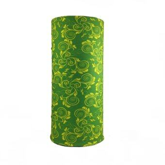 2561 Parbuf ผ้าอเนกประสงค์ ป้องกัน UV ผ้าโพกหัว ผ้าพันคอ รุ่น PB135 (สีเขียว/เหลือง)