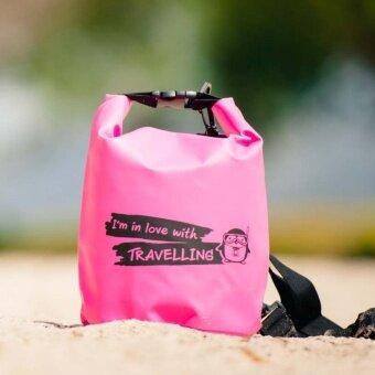 2561 PenguinProof OP-05L กระเป๋ากันน้ำ 5 ลิตร สีชมพู
