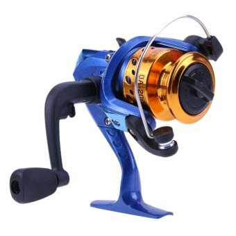 Portable 5.2:1 Metal Spool Spinning Fishing Reel Wheel (Blue) -intl