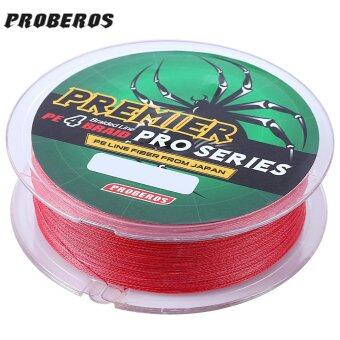 PROBEROS 100M PE 4 Strands Monofilament Braided Fishing LineAccessory 40LBS(Red)