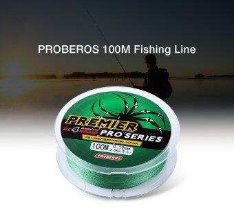 PROBEROS 100M PE 4 Strands Monofilament Braided Fishing LineAccessory 60LBS(Green)