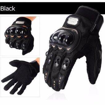 PROBIKER ถุงมือขี่มอเตอร์ไซค์ แบบเต็มนิ้ว (Black)(XXL)