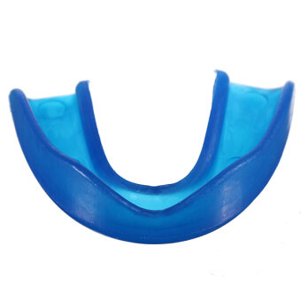 หยุดปากซิลิโคนรักษาฟันทันตกรรมบดการนอนกัดฟันโล่ในถาดกล่องสีน้ำเงิน(ในประเทศ)