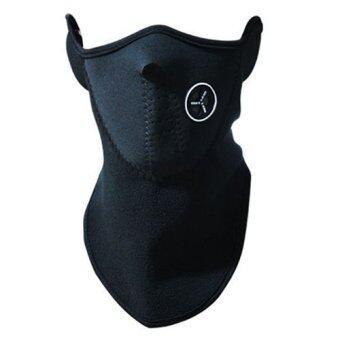 หน้ากากกันแดด กันลม กันฝุ่น บริเวณใบหน้าและลำคอ (สีดำ)