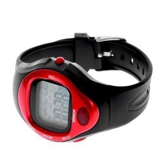 ตัววัดอัตราการเต้นของหัวใจชีพจรนับแคลอรี่นาฬิกาปลุกนาฬิกาจับเวลาเวลาออกกำลังกาย