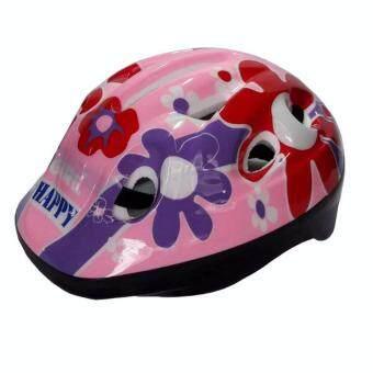 หมวกจักรยานเด็กสีชมพู/แดง