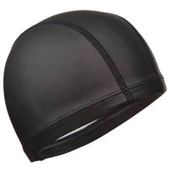 ราคา หมวกว่ายน้ำผ้าตาข่ายเคลือบซิลิโคน (สีดำล้วน)