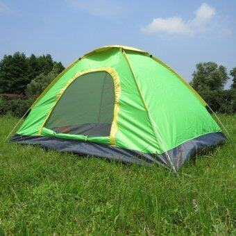 Protable outdoor automatic tent 3-4 people camping tentเต็นท์นอนแค้มปิ้ง Green
