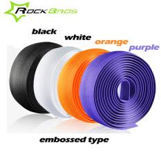 RockBros Professional Road Cycling Handlebar Tape Embossed Type 4Colors Anti-slip Anti-sweat S.R.EVA Road Bike Bicycle HandlebarTape Wrap