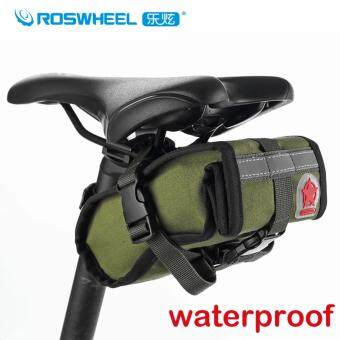 Roswheel 1L Waterproof MTB Mountain Road Bike Bag Bicycle SaddleBag Cycling Rear Seat Bag Accessories, Army Green - Intl