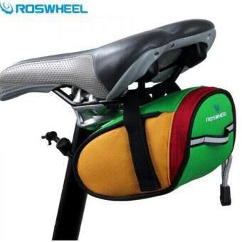 2561 กระเป๋าใต้อานจักรยาน Roswheel (Green/Yellow/Red)