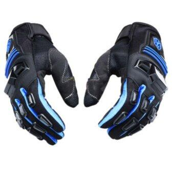 Scoyco MC24 Gloves Motorcycle Full Finger Scooter Protective RubberShell Racing Motorbike guantes Blue - intl