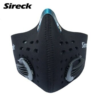 Harga Sireck Cycling Face Mask Training Mask Activated Carbon Filter Smog PM 2.5 Dustproof Sport Mask Face Shield Masque Pollution - intl