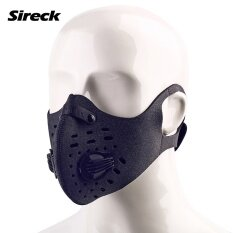 Sireck Cycling Mask Lycra Bike Face Shield 2017 Dustproof Training Mask Filter Carbon Half Windproof Sports Face Mask Men Women - intl